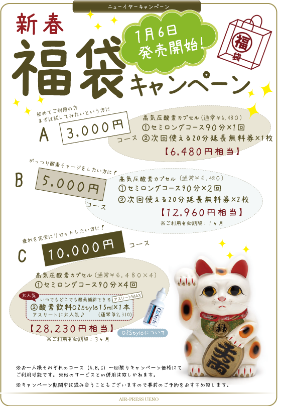 福袋キャンペーン2016